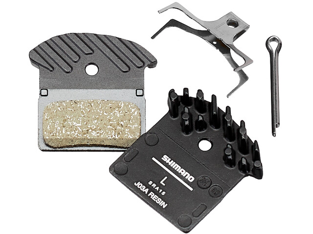 Shimano Ice-Tech J03A Resin Disc Brake Pads with Cooling Fins black